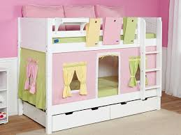 children s white bunk bed and co ordinating accessories