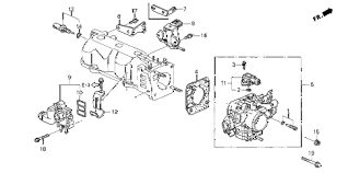 honda online store 1998 accord throttle body parts 1998 accord ex 4 door 5mt throttle body diagram