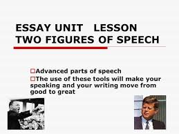 essay unit lesson two figures of speech  advanced parts of  1 essay unit lesson two figures of speech  advanced parts of speech  the use of these tools will make your speaking and your writing move from good to