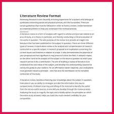 Sample Of Literature Review Apa Style Literature Review Example Apa Sop Examples