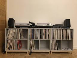 vinyl record furniture. Awesome Record Storage Console For Your Residence Idea: Ikea Eket Vinyl Storage/ Furniture