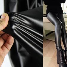 details about 4 way stretch leggings pant faux leather fabric lycra spandex vinyl fleece back