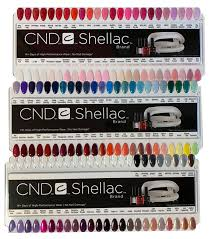 Cnd Shellac Salon Nail Tip Colour Chart Palette 128 Colour