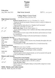 High School Resume For Scholarships Examples