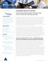 Medical Chart Shredding Ochsner Health System