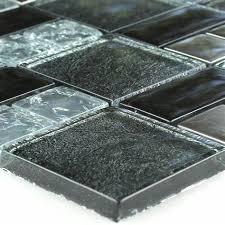 broken glass mosaic tiles black