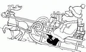 Santa Sleigh Coloring Pages Printable Christmas Littledelhisfus