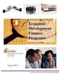 Economic Development Finance Programs