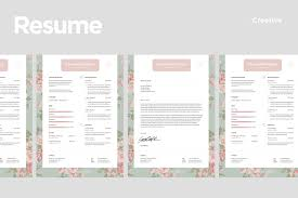 Creative Cover Letter Template Creative Resume Templates With Match Cover Letter Template
