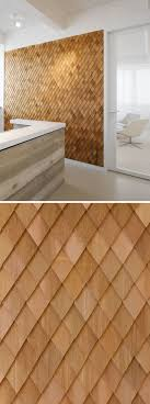 Small Picture Using Wood Shingles To Create An Accent Wall Adds Warmth And