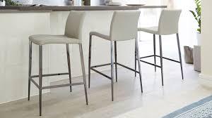 Beautiful Grey Leather Bar Stools Black Chrome Bar Stool Modern Faux  Leather Bar Stool Uk