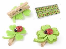 box 12 cloth decor w wooden ladybug and clip