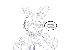 Fnaf Coloring Pages Springtrap Page By 3