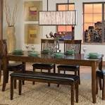 Image result for narrow kitchen table with bench