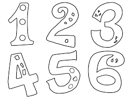 Small Picture Coloring The Numbers With Number 1 10 Colouring Pages Coloring