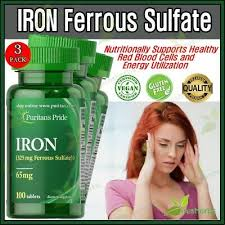 iron 65mg ferrous sulfate boosts