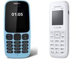 feature phones like Samsung Guru, Nokia 105