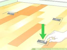 how to keep a rug from sliding on carpet image titled stop moving area rugs slipping