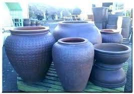 outdoor clay pots large ceramic glazed pottery tall plant garden planter large glazed ceramic garden pots
