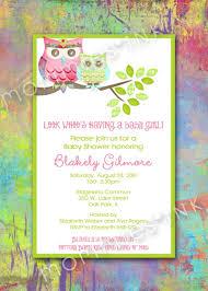 Owl Mom And Baby Baby Shower Invite Shabby Chic Vintage Polka Dots Tie Dye Printable Invitation Design