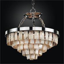 oyster shell dual mount chandelier la jolla 619 by glow lighting