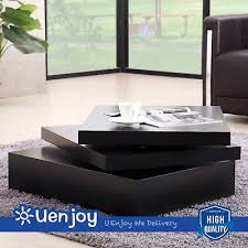 Modern black coffee table Black Circle Image Unavailable Image Not Available For Color Suncoo Black Square Coffee Table Rotating Contemporary Amazoncom Amazoncom Suncoo Black Square Coffee Table Rotating Contemporary