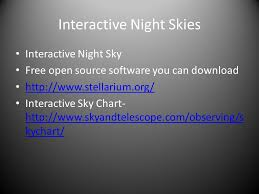 Interactive Night Sky Chart Observational Astronomy Basics Palm Coast Astronomy Club