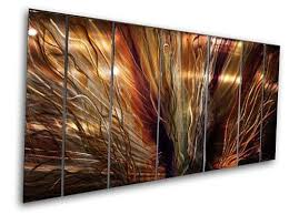 4 panel metal wall art