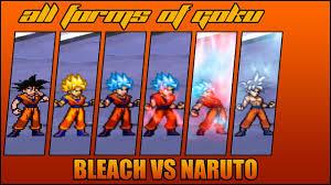 All Goku Forms - Bleach Vs Naruto 3.3 (Modded)