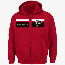 Majestic Hoodie Size Chart Details About Atlanta Falcons Full Zip Touchback Hoodie 3xl Red Coolest Logo Majestic Nfl