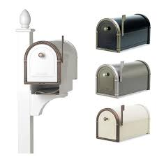 Decorative Mail Boxes Coronado Mailbox with Decorative Post by Architectural Mailboxes 96