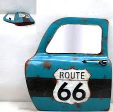 wall art car door route 66 41x47cm