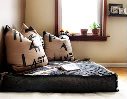 Floor Cushion Seating Ideas Nice On Throughout Living Room And Cushions  Images 14