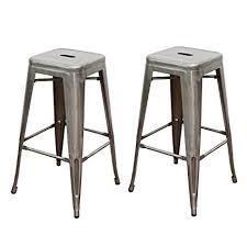 gunmetal bar stool.  Stool Adeco Gunmetal Silver 30u0026quot Metal Tolix Style Industrial Chic Chair Bar  Counter High Stool Barstool Throughout Bar E