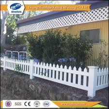 picket fence design. PVC Small Garden Picket Fence Design