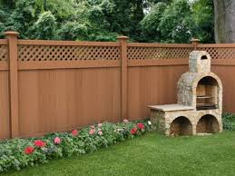 Brown Wooden Fence Color Idea