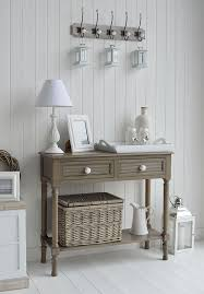 furniture in style. newport french grey console table for hall furniture in new england style homes p