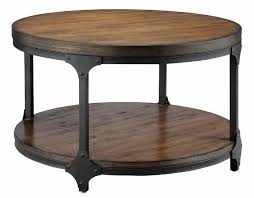 appealing wood and black metal coffee table 48 round tables living room