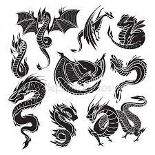Tetování Drak Stock Vektory Royalty Free Tetování Drak Ilustrace