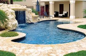 Contemporary Pool Designs With Beach Entry Zero Swimming Rock Waterfall Decorating