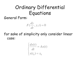 ordinary diffeial equations general form