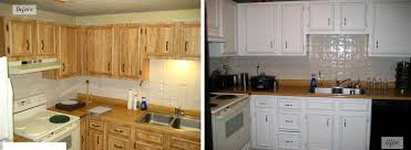 painted kitchen cabinets before and after. Perfect Before Repainting Kitchen Cabinets Before And After Intended Painted