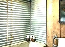 corrugated metal shower tin corrugated metal shower surround walls bathroom best images about iron on barn