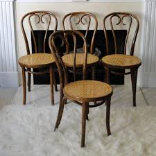 vintage thonet bentwood chairs with cane seats
