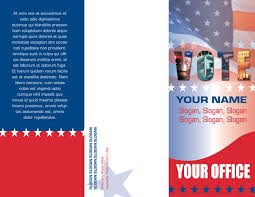 Campaign Brochure Campaign Brochure Template Enlarged View Design 6