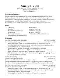 nurse anesthetist resumes bay anesthesia certified registered nurse anesthetist resume