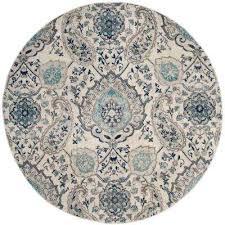 madison cream light gray 9 ft x 9 ft round area rug
