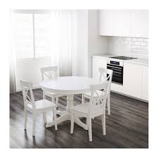 unique white round table and chairs ikea ingatorp extendable table ikea