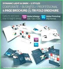 Quad Fold Brochure Template Word Horizontal Brochure Template