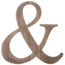 natural ampersand wood wall decor